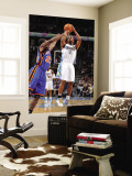 New York Knicks v Denver Nuggets: Chauncey Billups and Timofey Mozgov Wall Mural by Garrett Ellwood