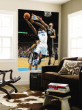 San Antonio Spurs v New Orleans Hornets: Emeka Okafor and Tim Duncan Wall Mural by Chris Graythen