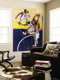 Detroit Pistons v Memphis Grizzlies: Greg Monroe, Darrell Arthur and Marc Gasol Wall Mural by Joe Murphy