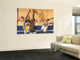 Charlotte Bobcats v Indiana Pacers: Stephen Jackson and Solomon Jones Wall Mural by Ron Hoskins
