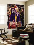 Los Angeles Lakers v Los Angeles Clippers: Derek Fisher and Pau Gasol Wall Mural by Stephen Unknown