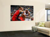 New Jersey Nets v Atlanta Hawks: Brook Lopez and Josh Smith Wall Mural by Kevin Cox