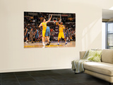 Washington Wizards v Los Angeles Lakers: Pau Gasol and Kobe Bryant Wall Mural by Andrew Bernstein