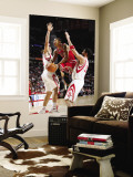 Chicago Bulls v Houston Rockets: Derrick Rose, Brad Miller and Luis Scola Wall Mural by Bill Baptist