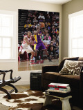 Los Angeles Lakers v Houston Rockets: Lamar Odom and Shane Battier Wall Mural by Bill Baptist