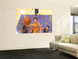 Washington Wizards v Los Angeles Lakers: Kobe Bryant, Gilbert Arenas and Yi Jianlian Wall Mural by Andrew Bernstein