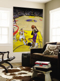 New York Knicks v Golden State Warriors: Amare Stoudamire and Jeff Adrian Wall Mural by Rocky Widner
