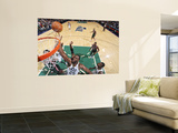 Milwaukee Bucks v Utah Jazz: Al Jefferson and Ersan Ilyasova Wall Mural by Melissa Majchrzak