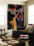Washington Wizards v Los Angeles Lakers: Pau Gasol and Yi Jianlian Wall Mural by Jeff Unknown