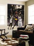 Los Angeles Lakers v Utah Jazz: Kobe Bryant, C.J. Miles and Francisco Elson Wall Mural by Melissa Majchrzak