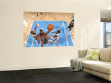 Milwaukee Bucks v Denver Nuggets: Larry Sanders, Carmelo Anthony and Nene Wall Mural by Garrett Ellwood