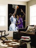 Sacramento Kings v New Orleans Hornets: Jason Thompson and Emeka Okafor Wall Mural by Chris Graythen