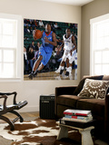 Tulsa 66ers v Texas Legends: Elijah Millsap and Rece Hampton Wall Mural by Layne Murdoch