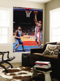Washington Wizards v Detroit Pistons: Charlie Villanueva and VaVale McGee Wall Mural by Allen Einstein