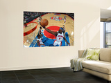 Milwaukee Bucks v Detroit Pistons: Ben Wallace Wall Mural by Allen Einstein