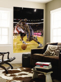 Charlotte Bobcats v Miami Heat: Tyrus Thomas and Udonis Haslem Wall Mural by Mike Ehrmann