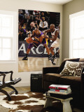 Los Angeles Lakers v New Jersey Nets: Kobe Bryant and Quinton Ross Wall Mural by Andrew Bernstein