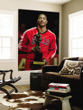 Atlanta Hawks v Chicago Bulls - Game Two, Chicago, IL - MAY 04: Derrick Rose Wall Mural by Jonathan Daniel