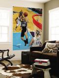 San Antonio Spurs v New Orleans Hornets: Manu Ginobili and Jason Smith Wall Mural by Chris Graythen
