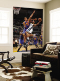 Golden State Warriors v Memphis Grizzlies: Xavier Henry and Andris Biedrins Wall Mural by Joe Murphy