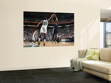 Denver Nuggets v Utah Jazz, Salt Lake City, UT - March 3: Nene and Al Jefferson Wall Mural by Melissa Majchrzak