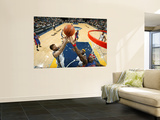 Detroit Pistons v Memphis Grizzlies: Marc Gasol and Ben Wallace Wall Mural by Joe Murphy