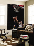 Indiana Pacers v Milwaukee Bucks: Jeff Foster and Ersan Ilyasova Wall Mural by Gary Dineen