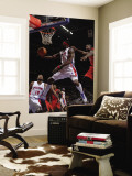 Toronto Raptors v Detroit Pistons: Ben Wallace and Ed Davis Wall Mural by Allen Einstein