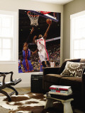 New York Knicks v Detroit Pistons: Rodney Stuckey and Amar'e Stoudemire Wall Mural by Allen Einstein