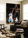 San Antonio Spurs v New Orleans Hornets: Tim Duncan and Emeka Okafor Wall Mural by Chris Graythen