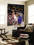 Golden State Warriors v Houston Rockets: Kevin Martin and Dan Gadzuric Wall Mural by Bill Baptist
