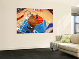 Los Angeles Lakers v Detroit Pistons: Ben Gordon and Devin Ebanks Wall Mural by Allen Einstein