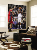 New Jersey Nets v Dallas Mavericks: Caron Butler and Brook Lopez Wall Mural by Danny Bollinger