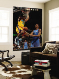 Oklahoma City Thunder v New Orleans Hornets: David West and Thabo Sefolosha Wall Mural by Chris Unknown