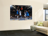 Dallas Mavericks v Denver Nuggets, Denver - February 10: Shawn Marion and Nene Wall Mural by Garrett Ellwood