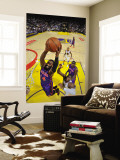 New York Knicks v Golden State Warriors: Ronny Turiaf and Jeff Adrian Wall Mural by Rocky Widner