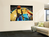 Oklahoma City Thunder v New Orleans Hornets: Serge Ibaka and Jarrett Jack Wall Mural by Chris Unknown