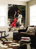 Toronto Raptors v Indiana Pacers: Linas Kleiza and James Posey Vægplakat af Ron Hoskins