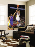 New York Knicks v Golden State Warriors: Monta Ellis and Wilson Chandler Wall Mural by Rocky Widner