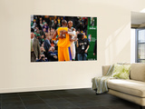 Los Angeles Lakers v Boston Celtics, Boston, MA - February 10: Kobe Bryant and Ray Allen Wall Mural by Brian Babineau