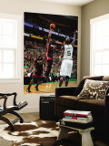 Miami Heat v Boston Celtics - Game Four, Boston, MA - MAY 9: Dwyane Wade and Kevin Garnett Wall Mural by Brian Babineau