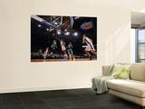 Boston Celtics v New York Knicks: Rajon Rondo and Amar'e Stoudemire Wall Mural by Lou Capozzola