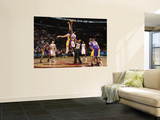 Los Angeles Lakers v Toronto Raptors: Pau Gasol and Amir Johnson Wall Mural by Ron Turenne