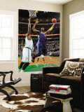 Denver Nuggets v Boston Celtics: Nene and Shaquille O'Neal Wall Mural by Brian Babineau