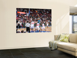 New Orleans Hornets v Philadelphia 76ers: DJ Mbenga, Spencer Hawes and Jodie Meeks Wall Mural by David Dow