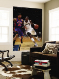 New York Knicks v Washington Wizards: Andray Blatche and Wilson Chandler Wall Mural by Ned Dishman