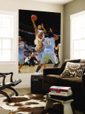 Denver Nuggets v Golden State Warriors: Monta Ellis and Nene Wall Mural by Rocky Widner