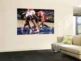 New Jersey Nets v Atlanta Hawks: Kris Humphries and Jason Collins Wall Mural by Kevin Cox