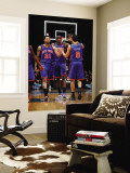 New York Knicks v Washington Wizards: Wilson Chandler, Amar'e Stoudemire and Landry Fields Wall Mural by Ned Dishman