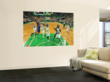 New York Knicks v Boston Celtics - Game Two, Boston, MA - April 19: Toney Douglas and Jermaine O&#39;Ne Wall Mural by Unknown Unknown